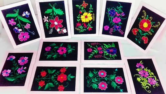 Embroidered cards